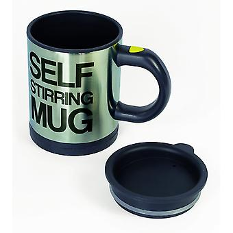 Self Stirring Coffee / Tea Mug - 11 Oz / 330ml Stainless Steel Automatic Self Mixing & Spinning Cup - Hot Drinks Chocolate Cappuccino