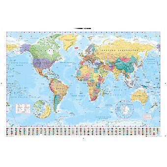 Verden kort 2015 Maxi plakat 61x91.5cm