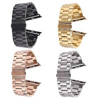 Farfalla Buckle 3 perline in acciaio inossidabile Apple Watch 38mm