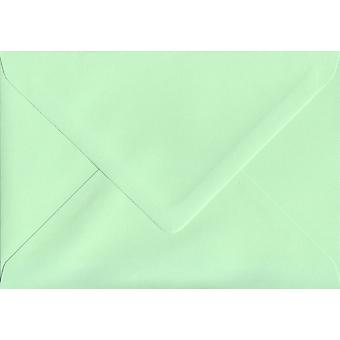 Mint Green Gummed Greeting Card Coloured Green Envelopes. 100gsm FSC Sustainable Paper. 125mm x 175mm. Banker Style Envelope.