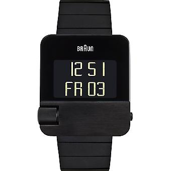Braun prestige digital quartz digital man watch with BN0106BKBTG stainless steel bracelet