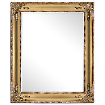 Mirror in gold, outer dimensions 50x60 cm