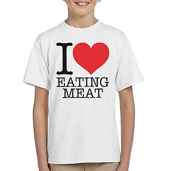 Carnivore I Heart Eating Meat Kid's T-Shirt