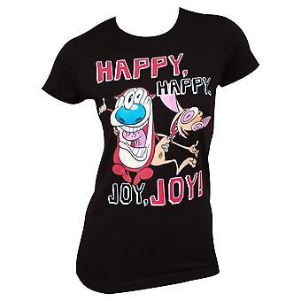 Ren And Stimpy Happy Happy Joy Joy Women's Tee Shirt