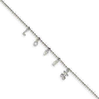 925 Sterling Silver s 1 palec ext. Anklet 10 palcov šperky Darčeky pre ženy-2,8 gramov