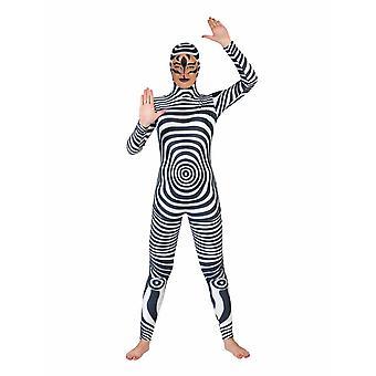 Zebra Catsuit Damenkostüm Tierkostüm Wildpferd Fasching Karneval Kostüm Damen