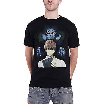 Death Note T Shirt Book Of The Dead Logo new Official Manga Mens Black