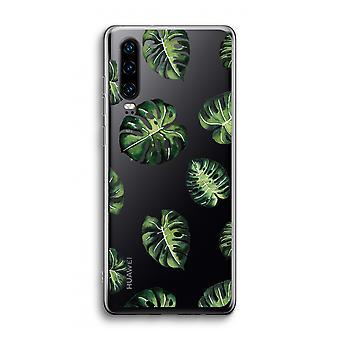 Caso transparente Huawei P30 - Hojas tropicales