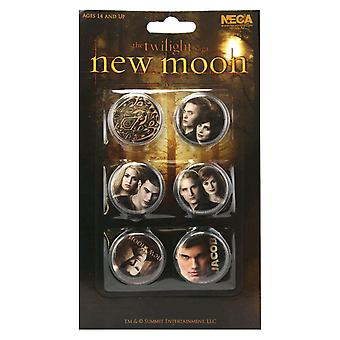 The Twilight Saga New Moon Pin Set of 6 Jacob & the Cullens