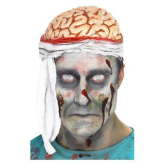 Bandage Brain Hat Halloween Fancy Dress Accessory