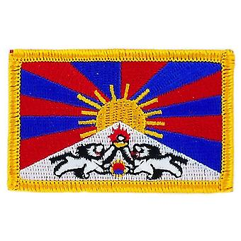 Patch patch Brode bandeira Tibet Tibetain bandeira Thermocollant insigne Blason