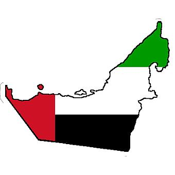 Sticker Sticker Adhesif Vinyl Car Flag Map United Arab Emirates