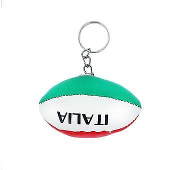 Porte Cle Cles Clefs Rugby Drapeau Italie Italien Italia Mini Ballon