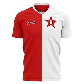 2020-2021 Slavia Prag Ev Konsept Futbol Forması