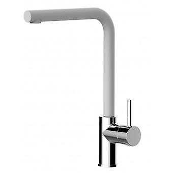 Kitchen Single-lever Sink Mixer With High Swivel 360° Spout - Quartz White - 391