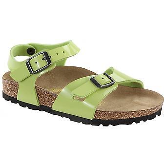 Birkenstock Kids Rio 731283 groene gloed octrooi, meisjes Birkie sandaal