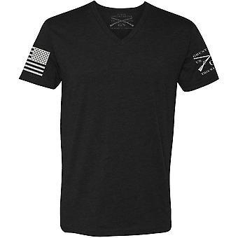 Grunt Style Basic V-Neck T-Shirt - Noir
