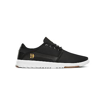 Etnies Scout Trainers in Black/White/Gum