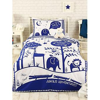 Jungle Adventure single Dekbedset-blauw