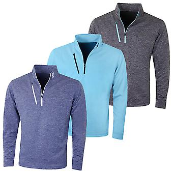 Footjoy Mens Heather Pinstripe Chillout Wicking Golf Sweater