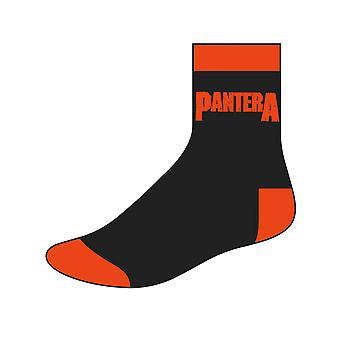 Pantera Herren Socken Band Logo neue offizielle UK Größe 6-8 schwarz