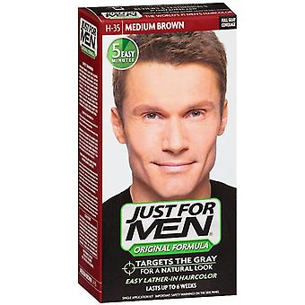 Just for men shampoo-in haircolor, medium brown h-35, 1 kit