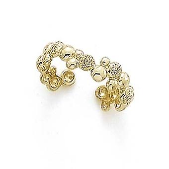 14k Yellow Gold Laser Polished Bubble Toe Ring Jewelry Gifts for Women - 1.4 Grams