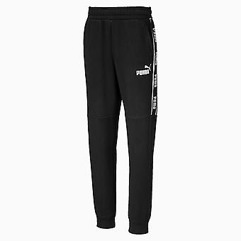 Puma Amplified Kids Fleece Sweat Track Pant Trouser Black