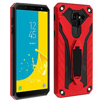 Samsung Galaxy J6 Hybrid Protection Case, Phantom Forcell, Red