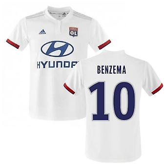 2019-2020 Olympique Lyon Adidas hjem Fotballdrakt (BENZEMA 10)