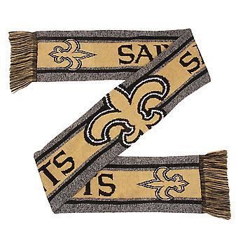 FOCO NFL Winter Scarf - GREY BIG LOGO New Orleans Saints