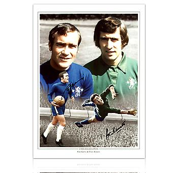 Ron Harris og Peter Bonetti signert Chelsea Photo