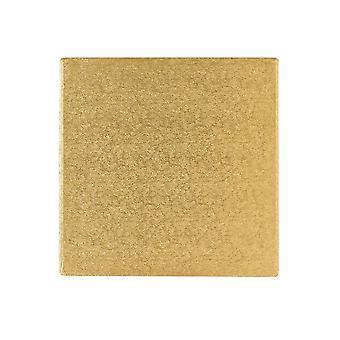 """Culpitt 14 """"(355mm) Cake Board Square Gold Fern förpackning med 5"""