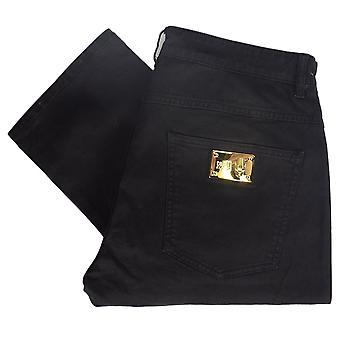 Cavalli Class A2jrb005 Regular Fit Stretch Black Jeans