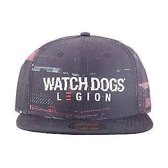 Watch Dogs Baseball Cap Legion Glitch Logo new Official Black Snapback