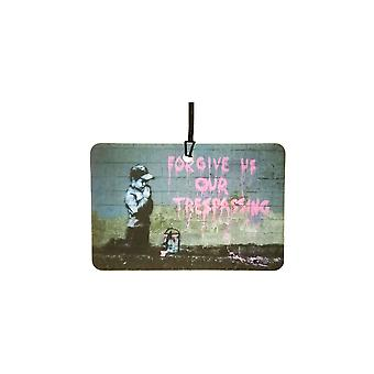 Banksy Forgive US Our Trespassing Car Air Freshener