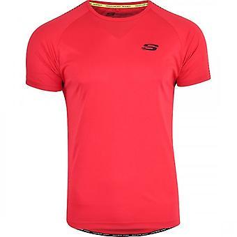 Skechers MenÛ ª s sport Running T-shirt Gym Activewear korte mouwen ademend mesh back panel