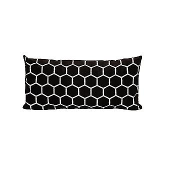 Light & Living Pillow 60x30cm Honeycomb Brown