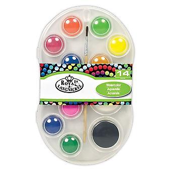 Royal & Langnickel 12 Colour Watercolour Paint Set & Brush