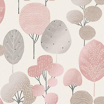 Scandi Forest Wallpaper Blush Crown M1522