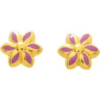 Ohrringe mit wirbelnden Rosen gold laque gold 750/1000 gelb (18K)