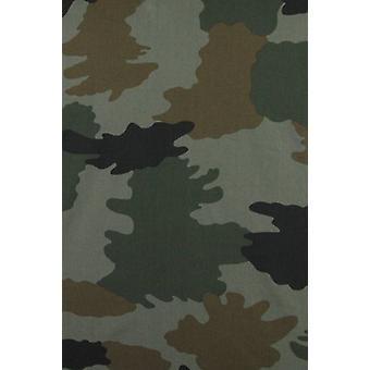 Italian shirts-Slim Fit shirt-Blouse Classic Army Pattern-Green