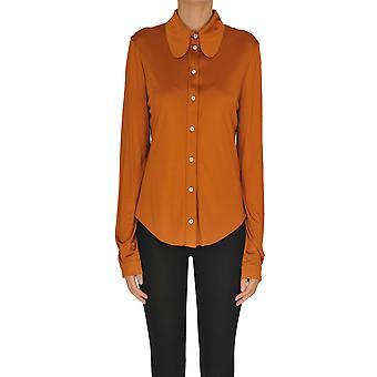 Mulberry Ezgl115009 Women's Orange Viscose Shirt