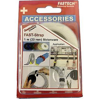FASTECH® 910-010 Koukku- ja silmukkateippi niputtamiseen Koukku- ja silmukkatyyny (L x W) 1000 mm x 20 mm Valkoinen 1 m