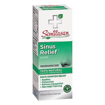 Similasan sínusová reliéf nosovej hmly, konzervačné látky zadarmo, 0,68 oz