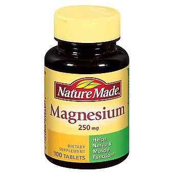 Nature made magnesium, 250 mg, tablets, 200 ea