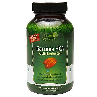 Irwin naturals garcinia hca fat reduction diet, liquid soft-gels, 90 ea