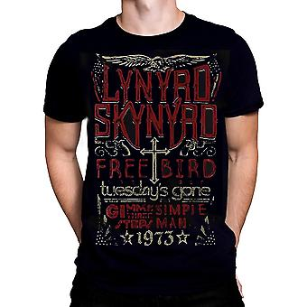 Phd - freebird 1973 hits - lynyrd skynyrd - men's t-shirt