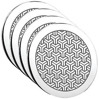 Symetrix tin Coaster - sæt af 4