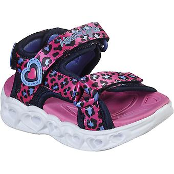 Skechers Kids S Lights Heart Lights Savvy Cat Sandal
